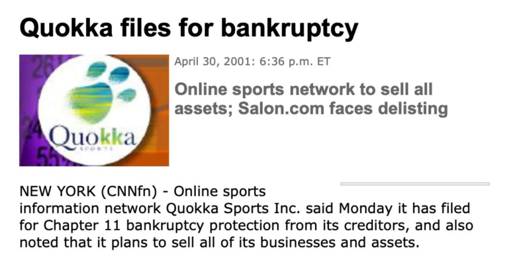 Quokka bankruptcy
