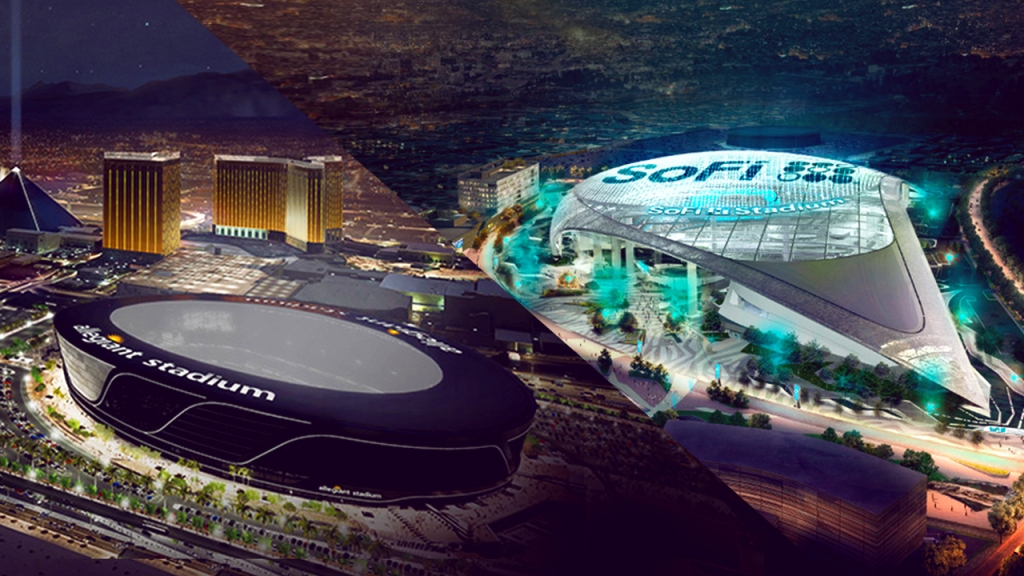 Hi-Tech Stadiums Spur Growth in Value of Raiders, Rams and Chargers