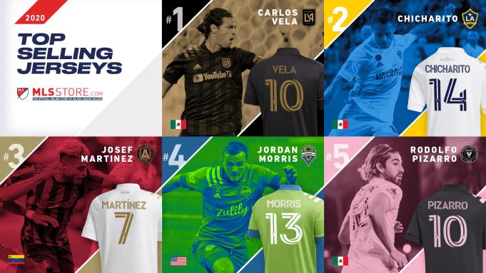 Reigning MVP Carlos Vela Tops MLS's Best-Selling Jerseys for 2020 ...